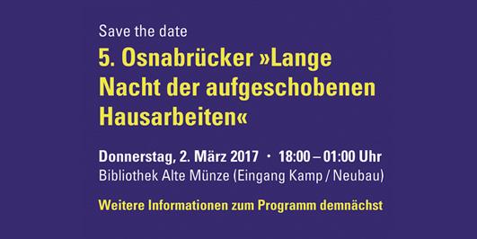 Save the date - 5. Osnabrücker